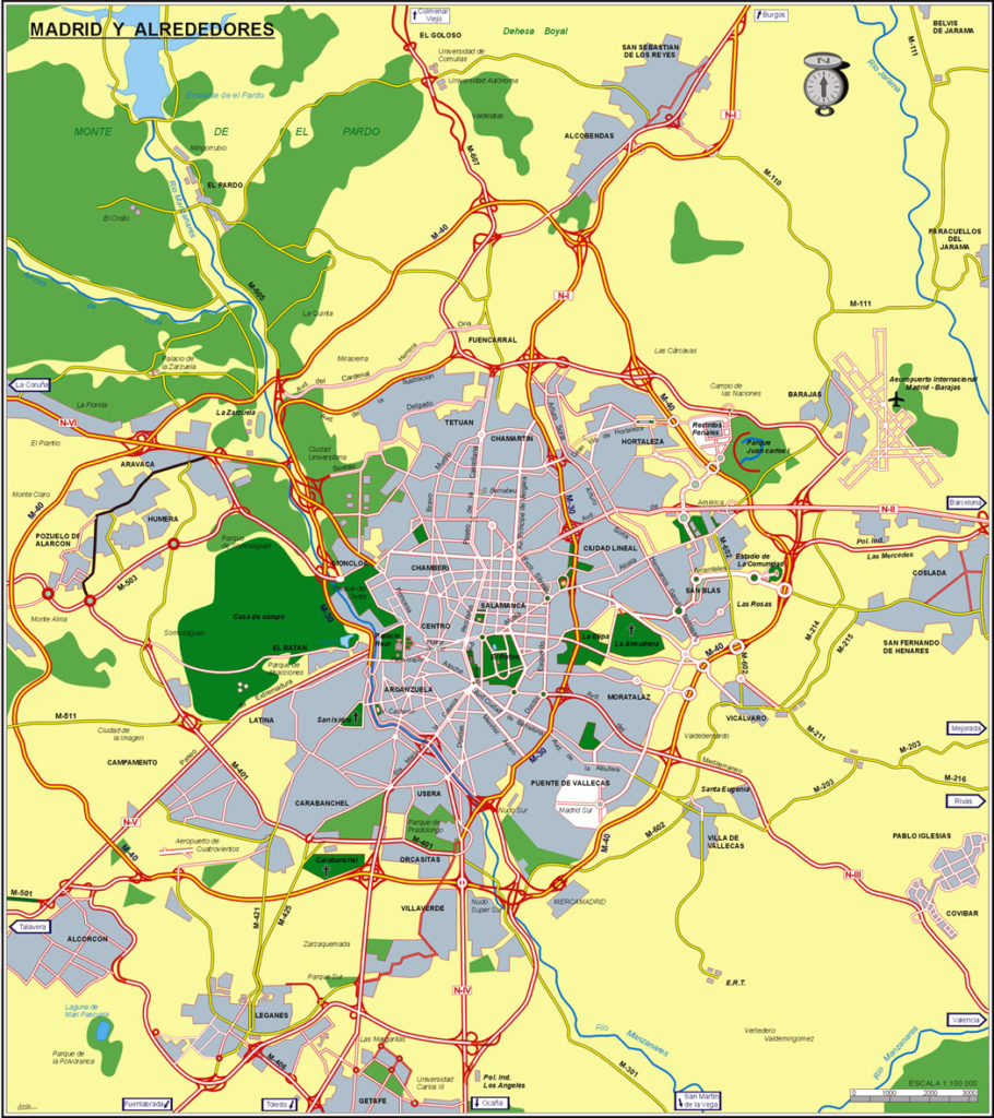 General accesos Madrid capita