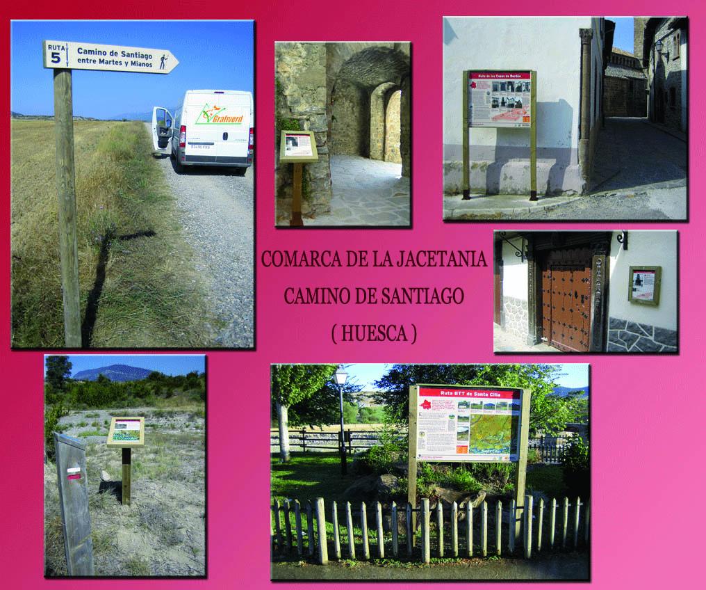 Señalización Camino de Santiago en Huesca