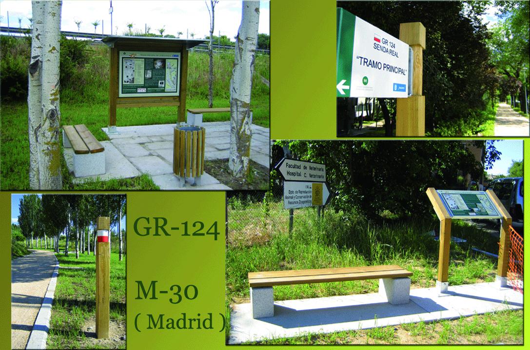 Señalización Gr-124 en M-30 Madrid
